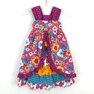 Jelly the Pug dress floral print ruffle tiered 6